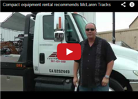 Compact equipment rental recommends McLaren Tracks